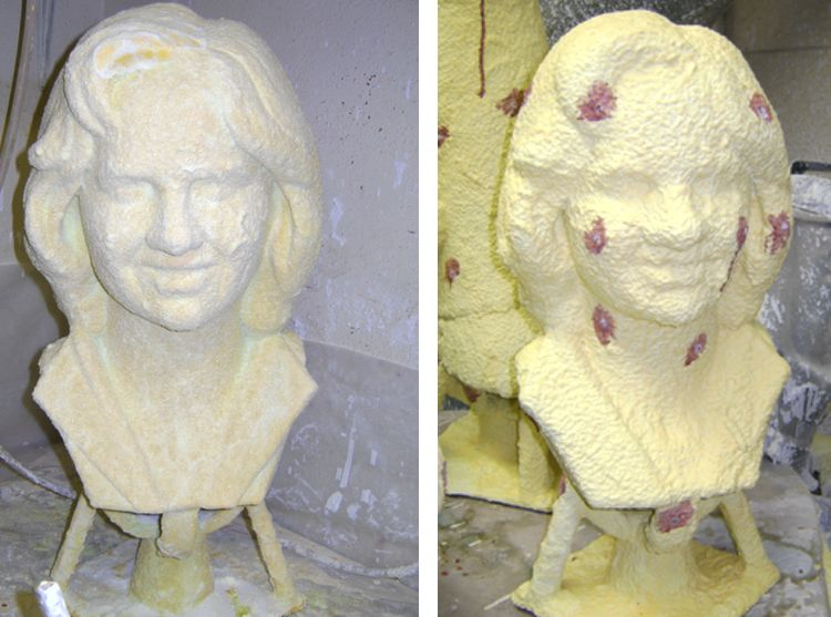 custom-bronze-bust-process-4-wax-burned-out-ready-to-receive-bronze
