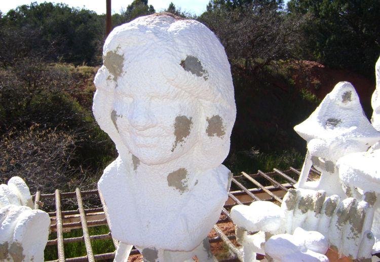 custom-bronze-bust-process-5-bronze-poured-in-mold