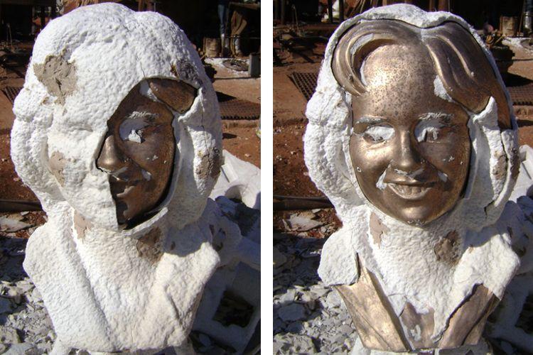 custom-bronze-bust-process-6-shell-hammered-away