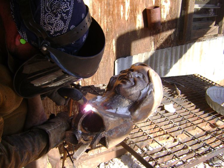 custom-bronze-bust-process-8-patina