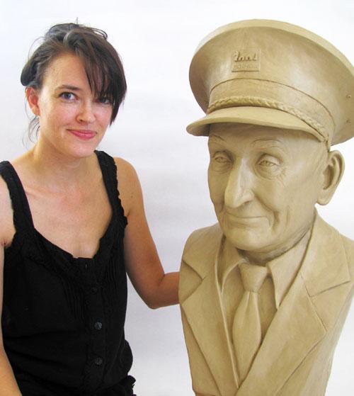 Custom Bronze portrait by Stephanie Hunter