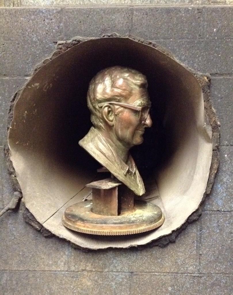 Bronze commission head