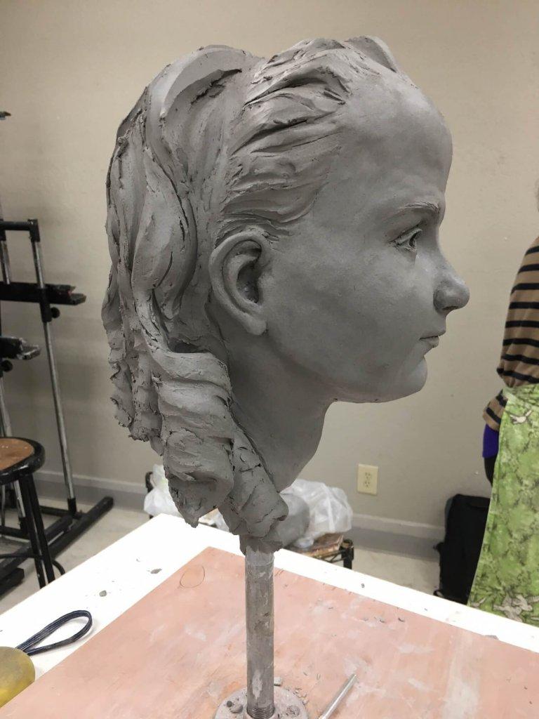 Custom Bronze Clay in Progress 1