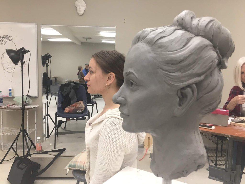 Custom Bronze Clay in Progress 2
