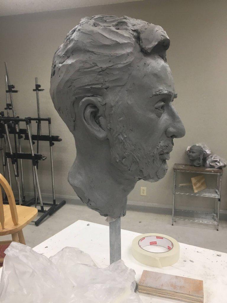 Custom Bronze Clay in Progress 3
