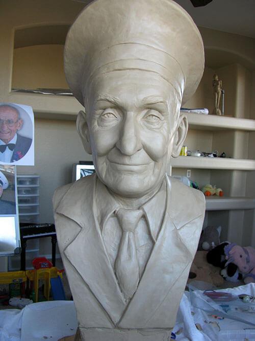 Bronze Sculpture Statue Art by Sculptor Artist Stephanie Hunter image of Peter