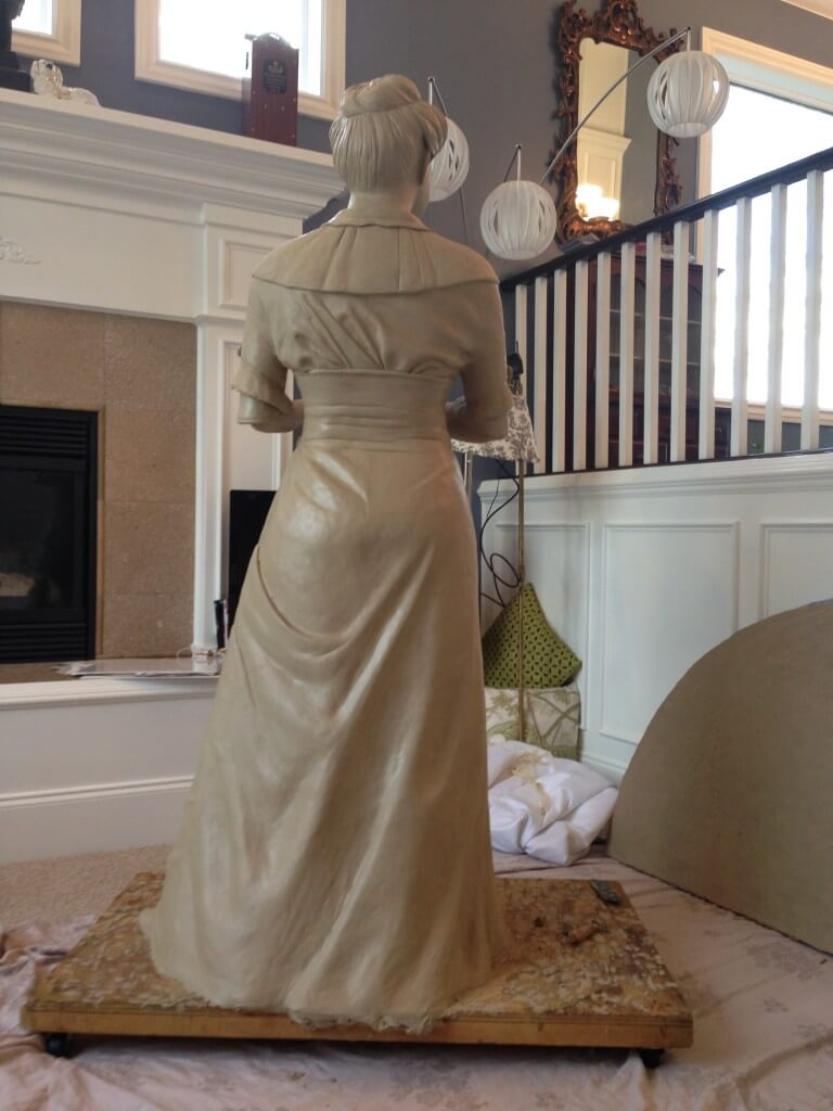 Custom Bronze Postrait Sculpture Statue Art by Sculptor Artist Stephanie Hunter image of First Lady Ellen Wilson