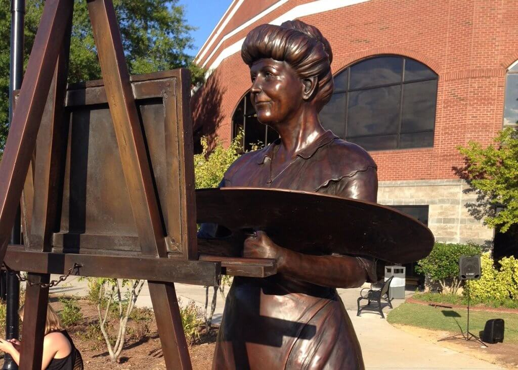 First Lady Ellen Wilson Bronze Statue by artist Stephanie Hunter