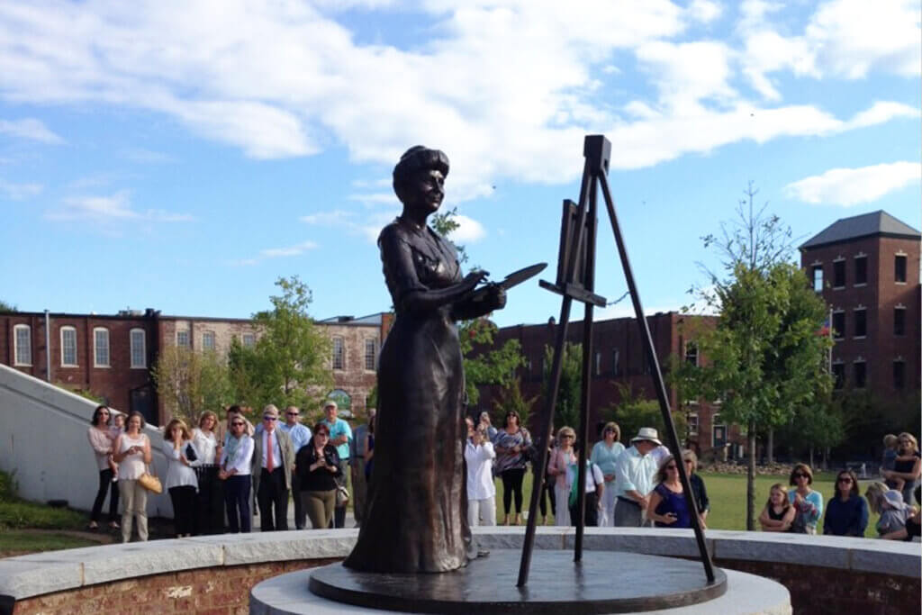 Ellen Wilson Unveiling - Custom Bronze Portrait Custom Sculpture by Stephanie Hunter Featured Photo