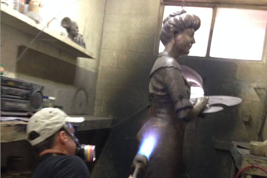 First Lady Ellen Wilson Foundry - Custom Bronze Portrait Custom Sculpture by Stephanie Hunter Featured Photo