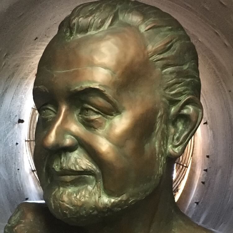 James Bust - Bronze Sculpture Bust Statue Art Artist Clay Sculpted Stephanie Hunter - Original