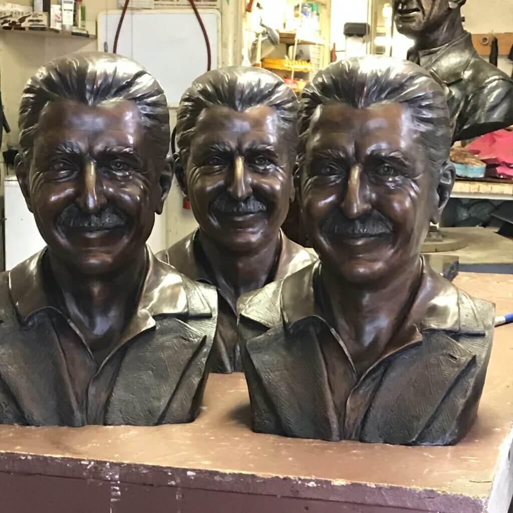 Richard - Custom Bronze Portrait Custom Sculpture Clay Art Artist Stephanie Hunter