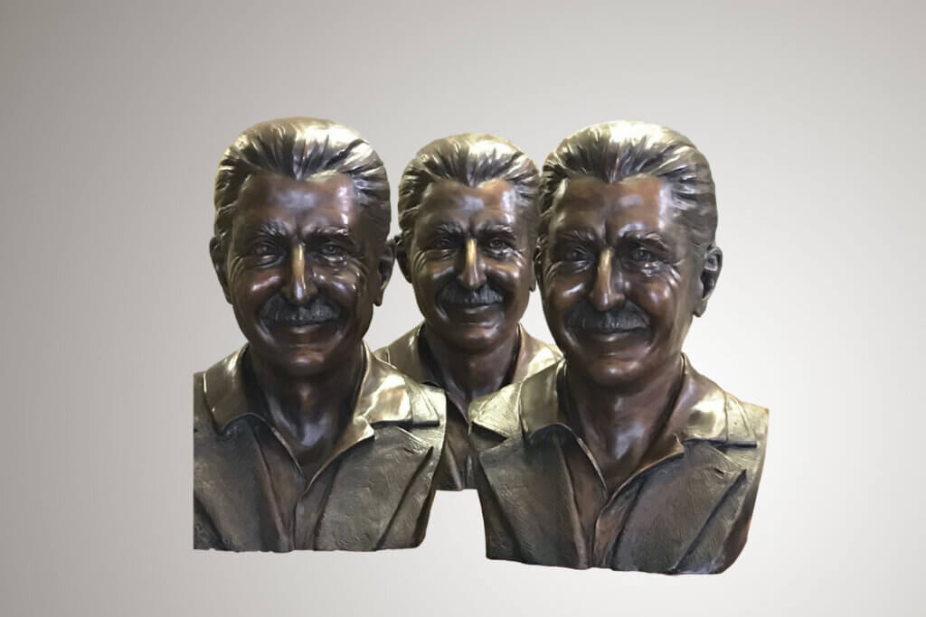Man - Custom Bronze Portrait Custom Sculpture by Stephanie Hunter Featured Photo