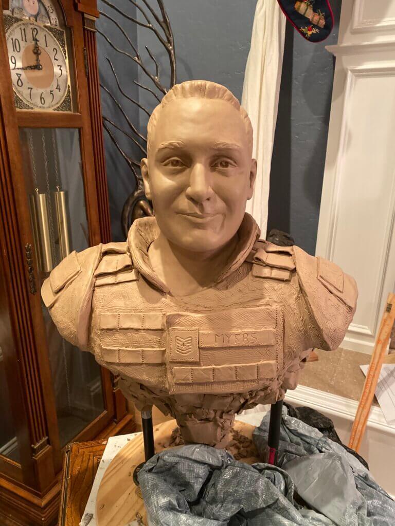 Myers - Custom Bronze Portrait Custom Sculpture Clay Art Artist Stephanie Hunter
